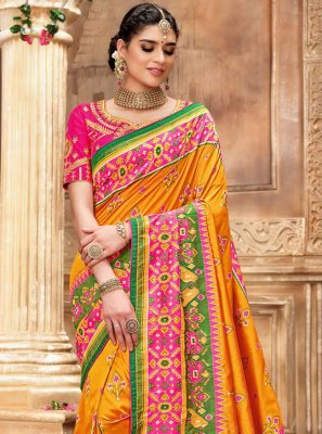 Embroidered Multi Colour Traditional Saree