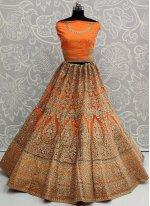 Embroidered Net A Line Lehenga Choli