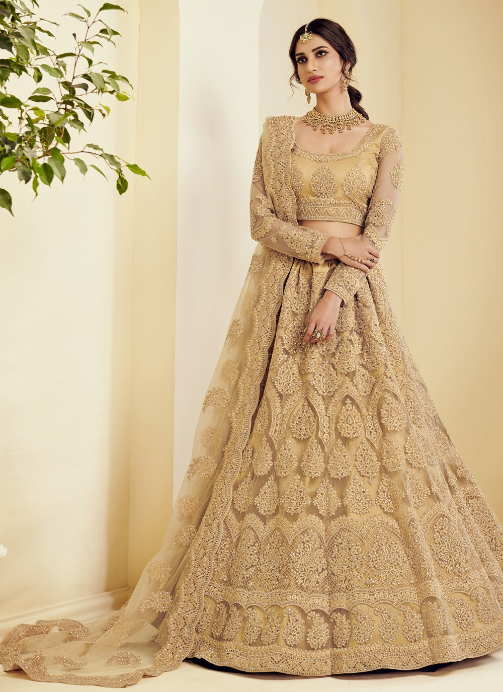 Embroidered Net Lehenga Choli