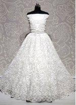 Embroidered Net Off White Lehenga Choli