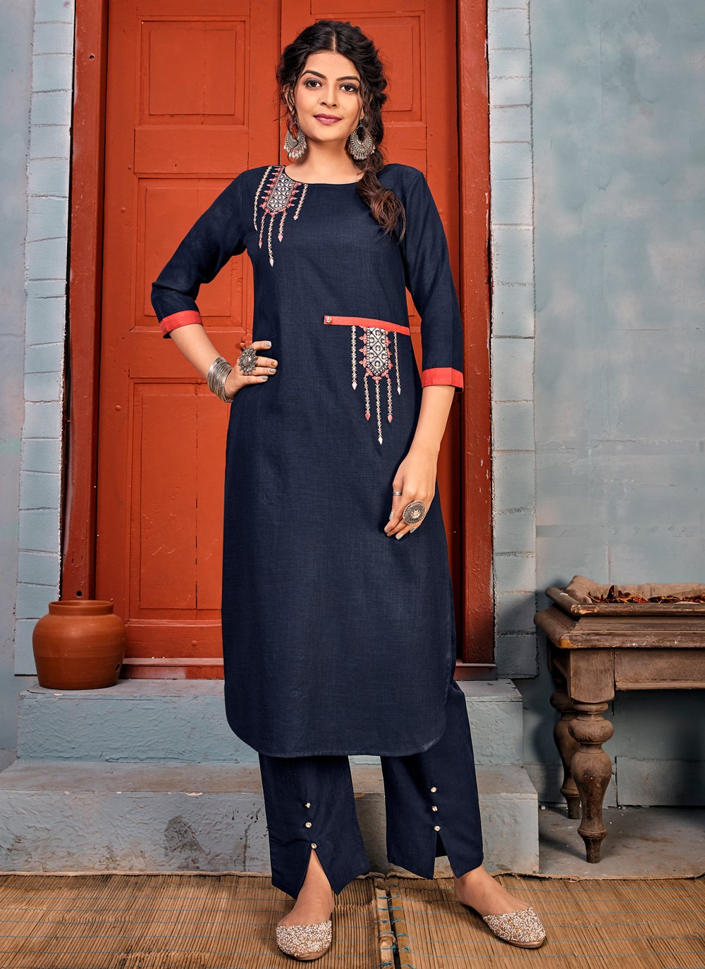Embroidered Party Casual Kurti