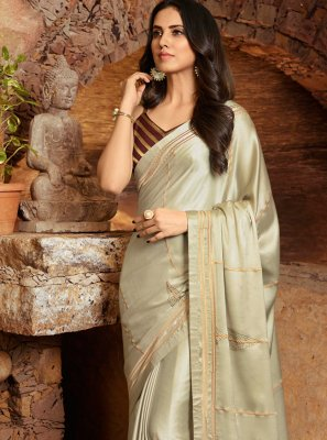 Embroidered Party Contemporary Saree