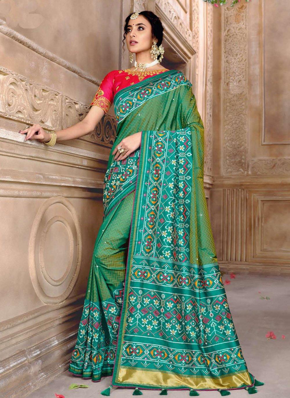 Embroidered Patola Silk  Designer Traditional Saree