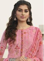 Embroidered Pink Georgette Bollywood Salwar Kameez