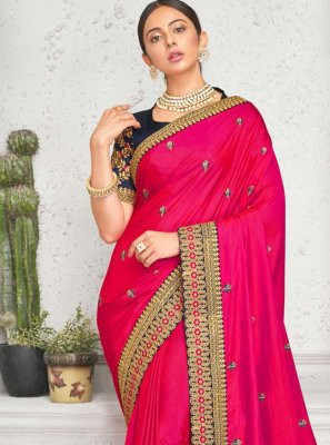 Embroidered Rakul Preet Singh Designer Saree