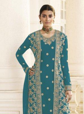 Embroidered Rama Designer Pakistani Salwar Suit