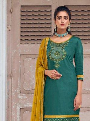 Embroidered Rama Designer Patiala Suit