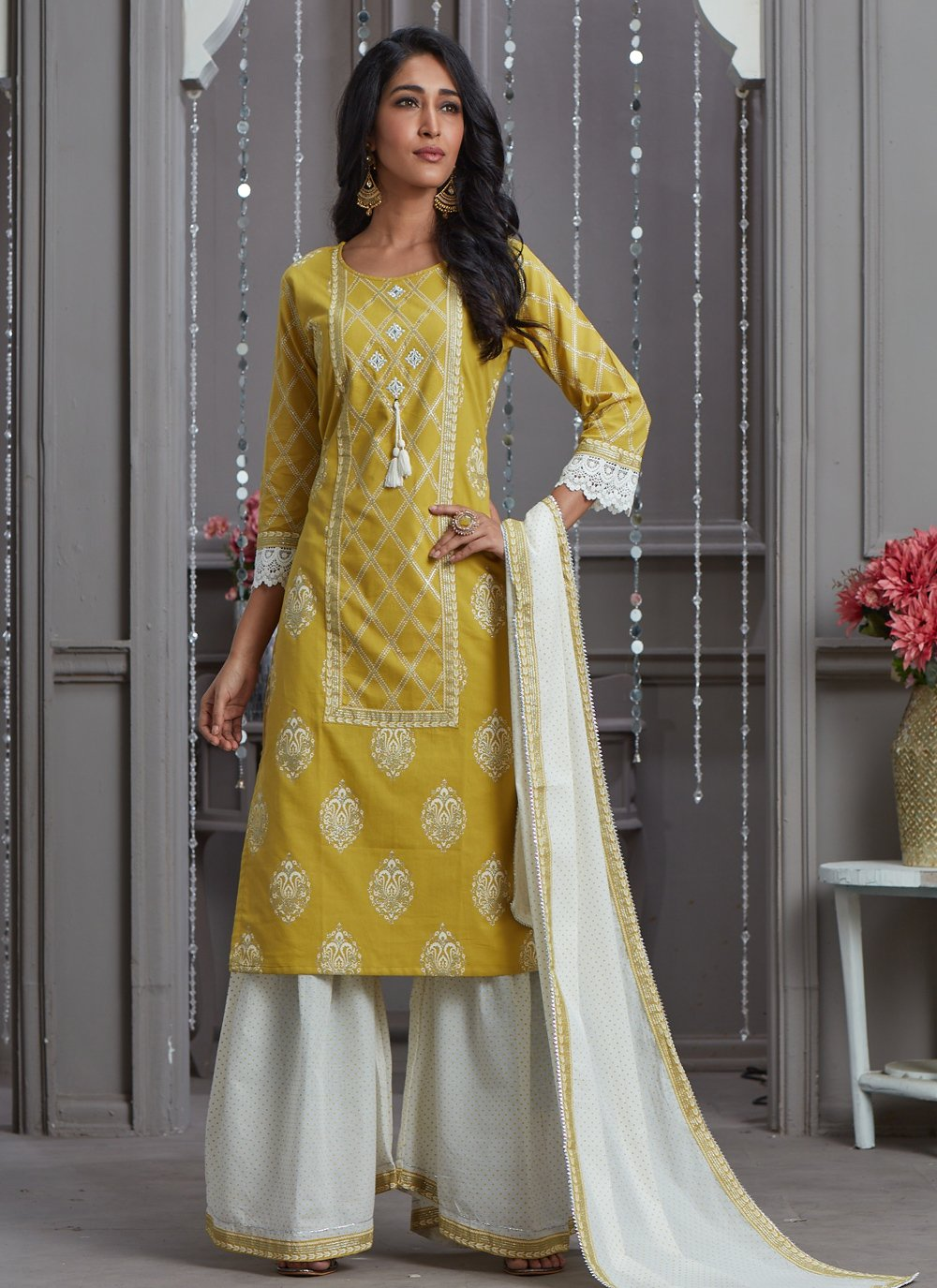 Embroidered Rayon Readymade Suit