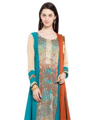 Embroidered Readymade Anarkali Salwar Suit