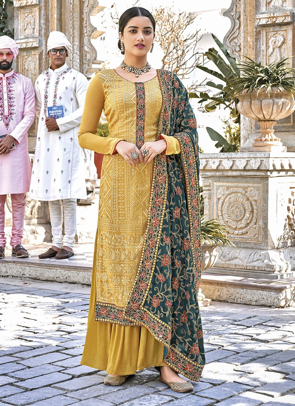 Embroidered Sangeet Designer Palazzo Salwar Kameez