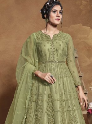 Embroidered Sangeet Floor Length Anarkali Suit