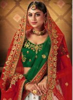 Embroidered Satin Bollywood Lehenga Choli