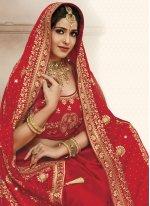 Embroidered Satin Silk Designer Traditional Saree