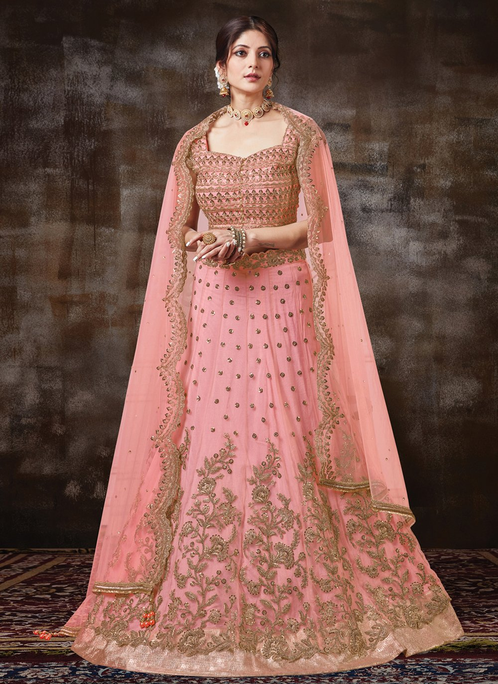 Embroidered Silk Designer Lehenga Choli
