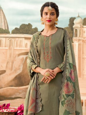 Embroidered Silk Designer Pakistani Suit