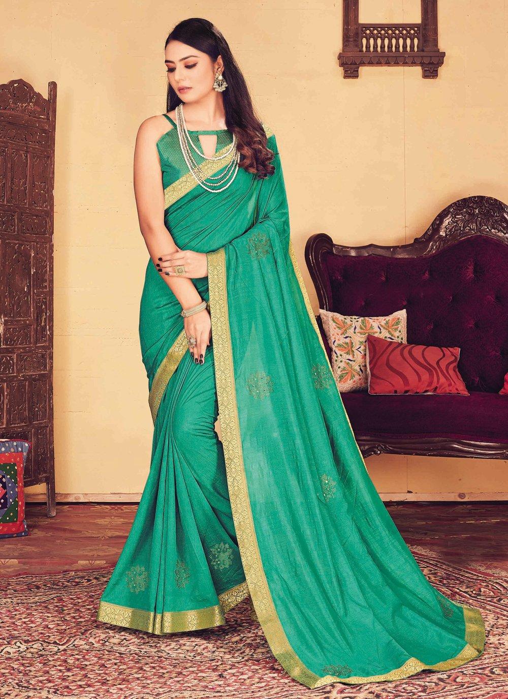Embroidered Silk Designer Traditional Saree