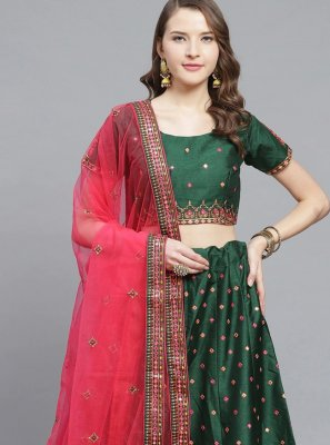 Embroidered Silk Trendy Lehenga Choli