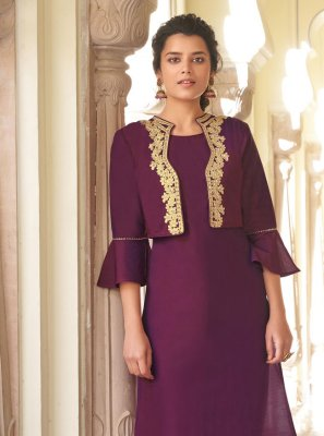 Embroidered Viscose Designer Kurti