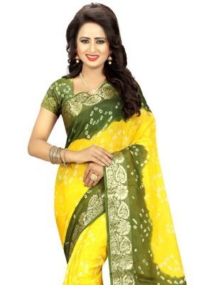 Fancy Art Silk Designer Traditional Saree in Yellow