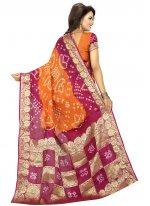 Fancy Art Silk Traditional Designer Saree in Mustard
