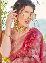 Fancy Banarasi Silk Magenta Traditional Designer Saree