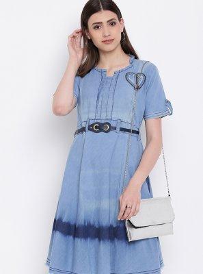 Fancy Blue Designer Kurti