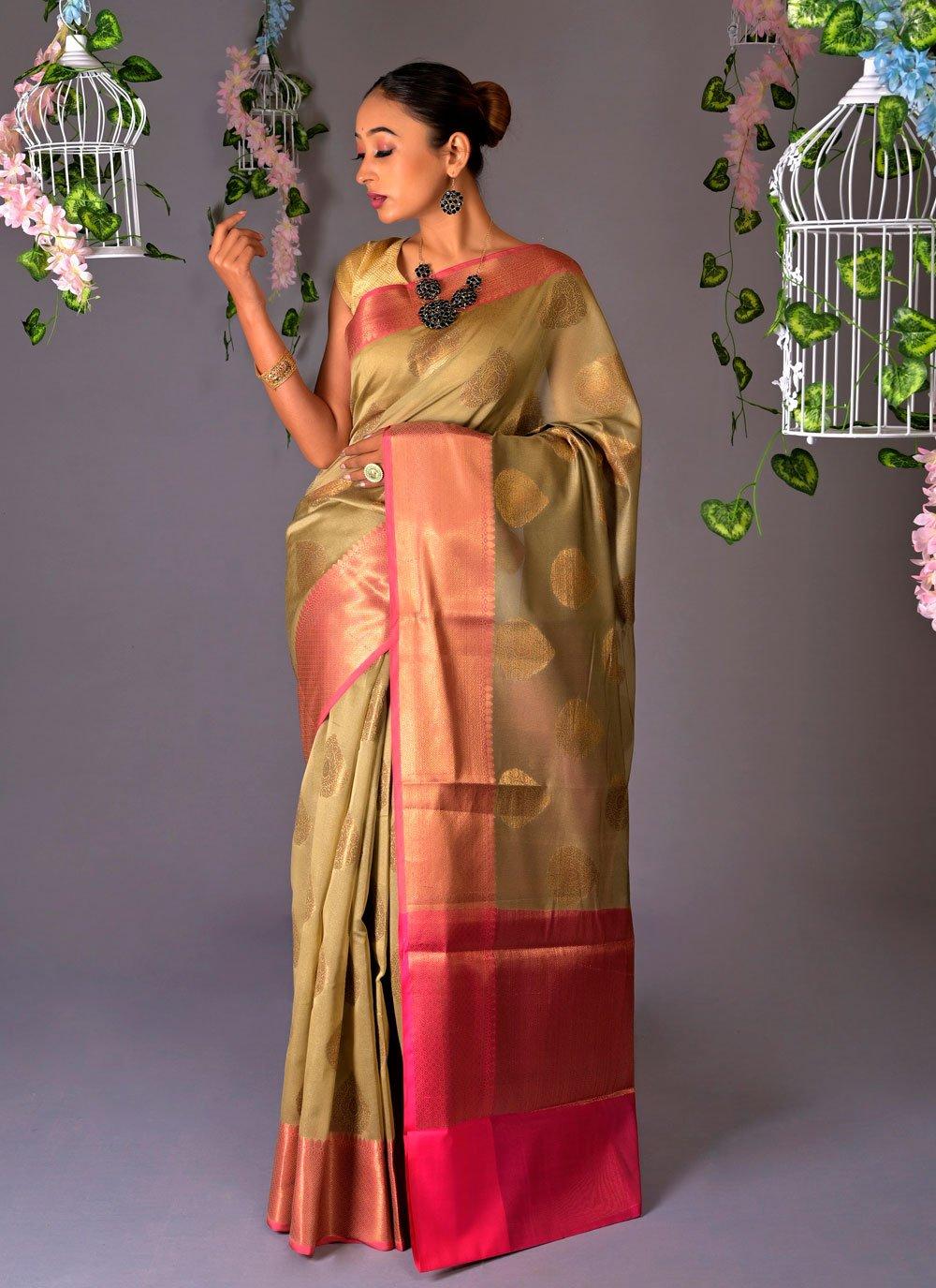 Fancy Chanderi Cotton Classic Designer Saree