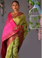 Fancy Chanderi Cotton Traditional Saree