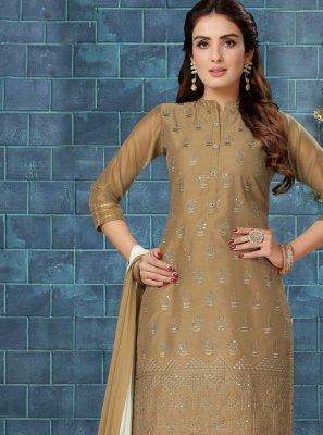 Fancy Chanderi Readymade Suit
