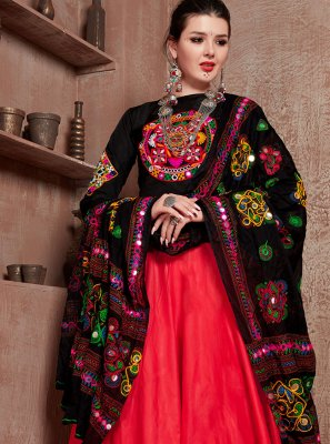 Fancy Cotton Navratri Special in Red