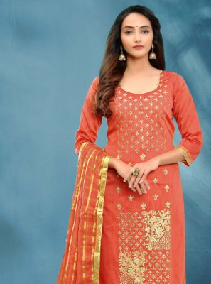 Fancy Cotton Silk Churidar Designer Suit