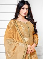 Fancy Cotton Silk Designer Palazzo Salwar Suit