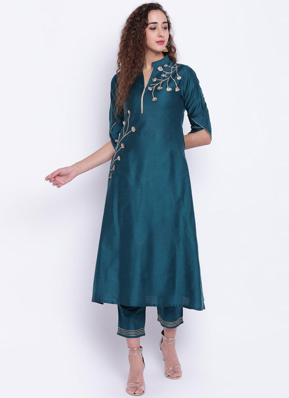 Fancy Cotton Silk Rama Party Wear Kurti