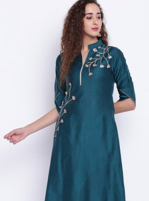 Fancy Cotton Silk Rama Party Wear Kurti