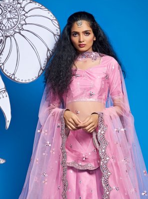 Fancy Engagement A Line Lehenga Choli