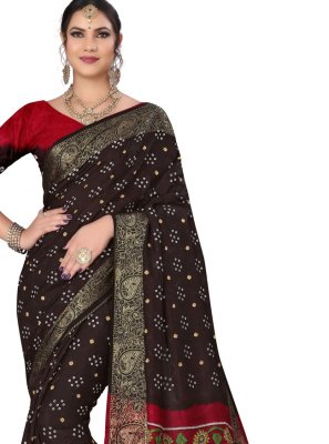 Fancy Fabric Black Traditional Saree