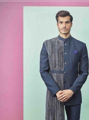 Fancy Fabric Blue Indo Western