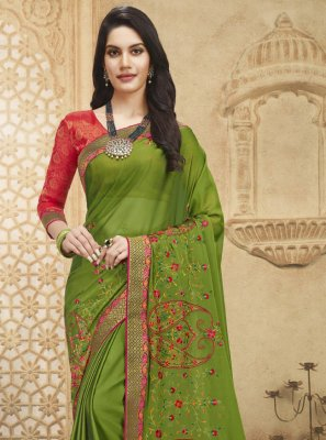 Fancy Fabric Ceremonial Designer Saree