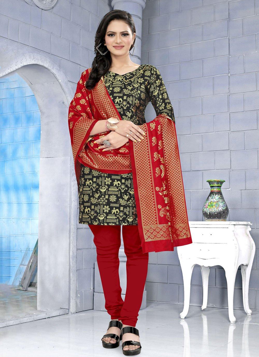 Fancy Fabric Churidar Suit