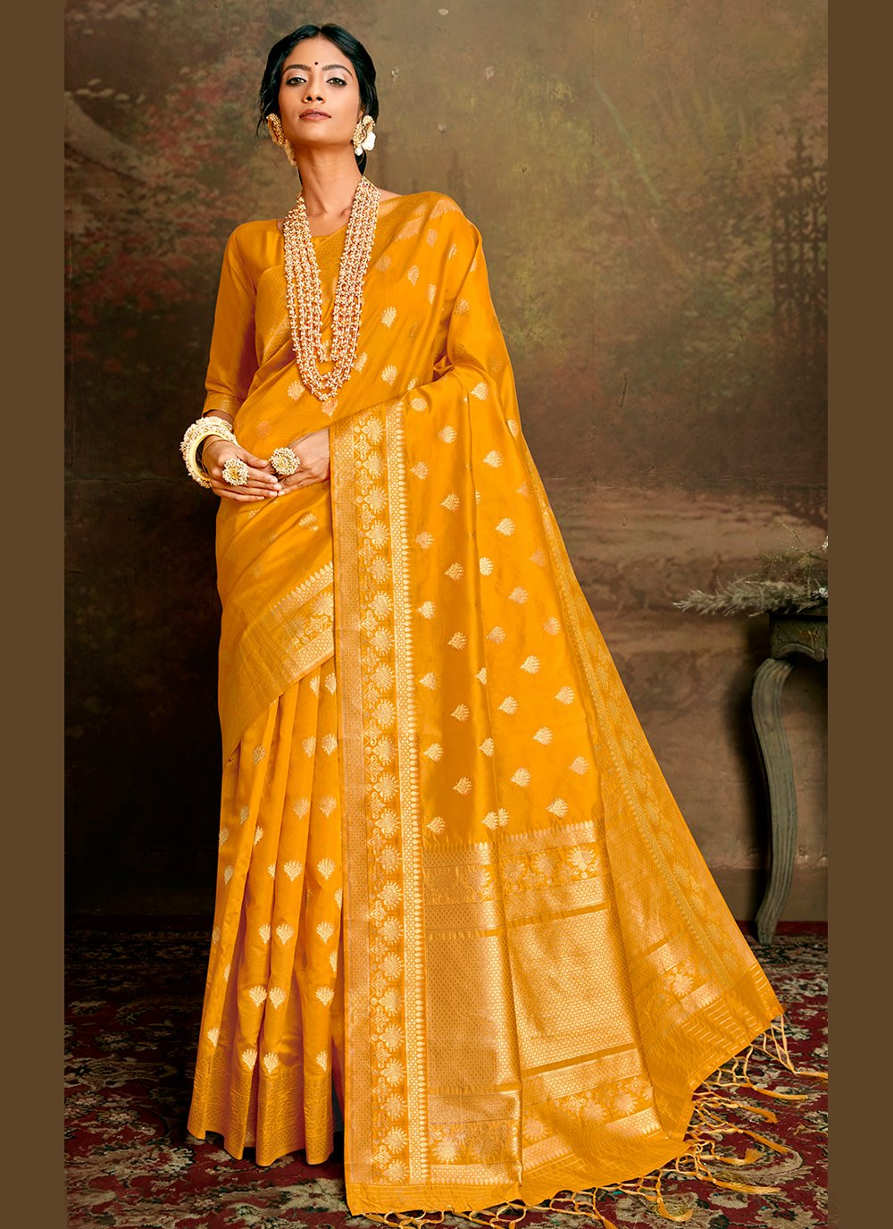 Fancy Fabric Designer Traditional Saree