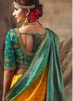 Fancy Fabric Designer Traditional Saree in Yellow