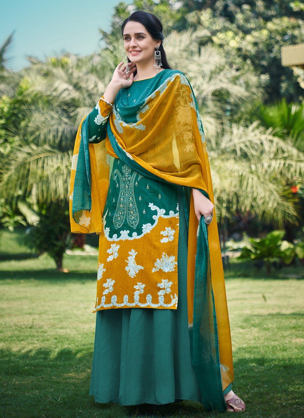 Fancy Fabric Digital Print Designer Palazzo Suit