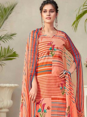 Fancy Fabric Digital Print Multi Colour Designer Palazzo Suit