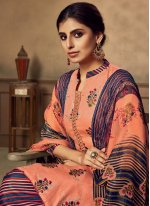 Fancy Fabric Embroidered Designer Patiala Suit