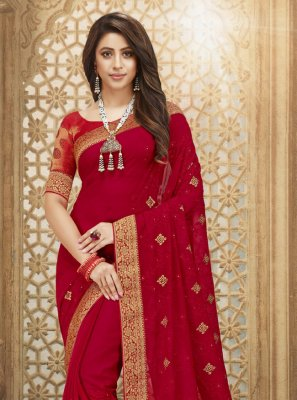 Fancy Fabric Engagement Designer Saree