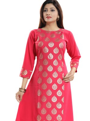 Fancy Fabric Fancy Casual Kurti