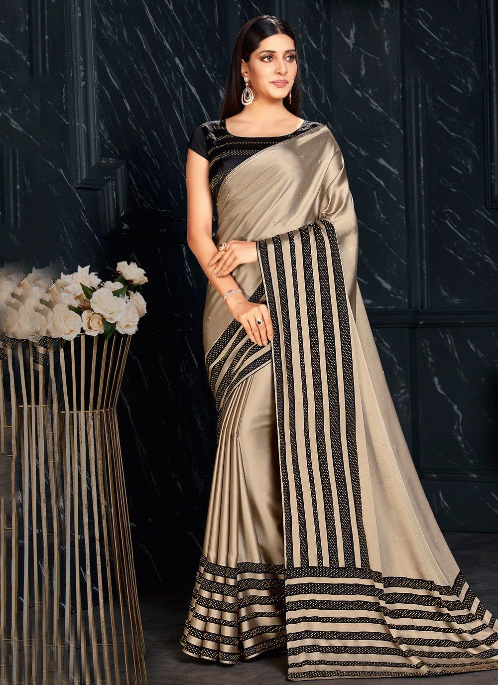 Fancy Fabric Classic Designer Saree in Beige