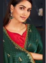 Fancy Fabric Fancy Designer Traditional Saree in Green