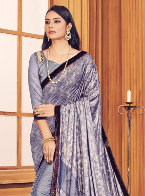 Fancy Fabric Fancy Lavender Trendy Saree