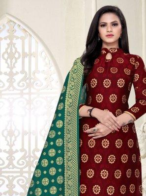 Fancy Fabric Festival Churidar Suit